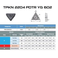 PŁYTKA TPKN 2204 EDTR YG602 10sztuk – ODPOWIEDNIK BAILDONIT TPKN 2204 EDTR