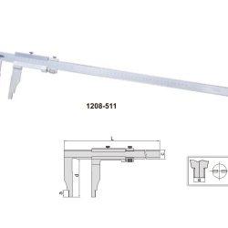 Suwmiarka noniuszowa Insize podziałka 0,02mm seria 1208-