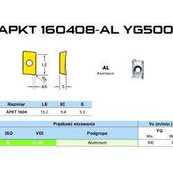 PŁYTKA APKT160408-AL-YG500 DO ALUMINIUM